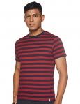 Jockey Men'S Regular Fit T-Shirt (8901326133996_2715_Large_Navy & Shanghai Red)