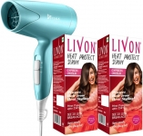 Livon Heat Protect Serum, For Protection Upto 250C, 2X Less Hair Breakage And Syska Hair Dryer(200 Ml)