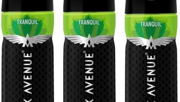 Park Avenue Tranquil Body Spray 150Ml*3Pcs Tg5426 Body Spray  –  For Men(450 Ml, Pack Of 3)