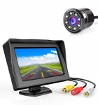 Carzex 4.3 Dashboard Tft Lcd Screen Rear View Monitor With 8 Led Car Rear View Reverse Camera For Cars