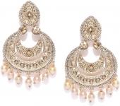 Zaveri Pearls Austrian Diamonds Studded Zinc Chandbali Earring