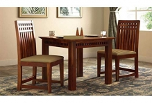 Rk Wood Dining Table 2 Seater Set With Chairs Sets | Dining Table Sets | Wooden 2 Seater Dining Table |Dinner Restaurant Dining Table | Dining Room Sets |Furniture Sheesham Wood | Square Honey Finish