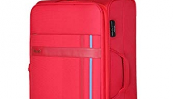 Verage – Phoenix 57 Cm / 20″ Carry On Cabin Size Nylon Polyester Red Anti Theft Zip Suitcase Luggage With Trolley Water Repellant (Vrytpxw20Rd)