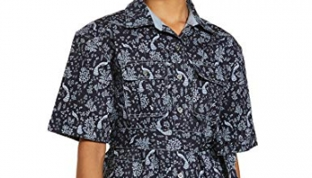 River Jj Valaya Designer Regular Fit Women'S Tops Shirt (Dbspl04Wt027_Navy_L