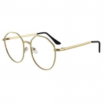 Augen By Visions India Unisex Spectacles With Blue Cut Lenses & Anti-Glare Coating Which Protects Eyes From Blue Light From Computer, Moble, Tablets, Laptop (Zero Power) (015 Gold)