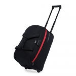 Lavie Sport Lino Plus Cabin Size 53 Cms Wheel Duffel Bag For Travel   Luggage Bag   Travel Bag With Anti Theft Zippers (Black)