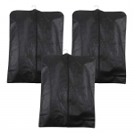 Prettykrafts Foldable Non Woven Coat Cover (Set Of 3 Pcs) – Black