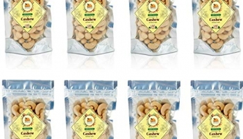 Gramroot Without Skin Plain Cashew Nuts, 800 Gr (Pack Of 2)
