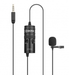 Boya By-M1 Pro Omnidirectional Lavalier Condenser Microphone With Gain Control, Headphone-Out, Noise Cancellation For Iphone Android Smartphone Dslr Camera Camcorder Audio Recorder Youtube(20Ft Cable)