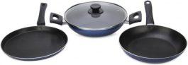 Pigeon Essential Cookware Set  (Aluminium, 3 – Piece) at 799 MRP 2599