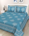 Rajasthani Traditional Jaipuri Double Bedsheet with 2 Pillow Covers