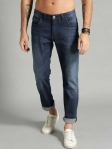 Regular Men Dark Blue Jeans