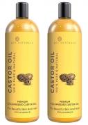 Rey Naturals Cold-Pressed, 100% Pure Castor Oil – (200ml x 2)