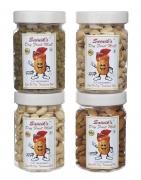 Sainik's Dry Fruit Badam Kaju Kishmish Namkeen Pista – Set of 4