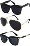 Sheomy Unisex Combo Of Sunglasses