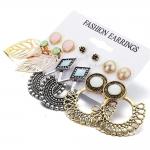 Shining Diva Fashion 6 Pairs Combo Earrings