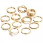 Shining Diva Fashion Set of 12 Finger Rings