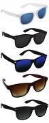 Silver Kartz UV Protection Unisex Sunglasses – Pack of 5