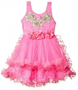 Smiling Bows Pink Party and Evening wear Girls Dress