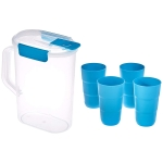 Solimo Pitcher with Tumbler Set, Set of 5