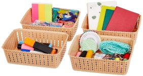 Solimo Storage Basket, Set of 4