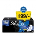 Stayfree Advanced XL All Night Sanitary napkins (28 Count)