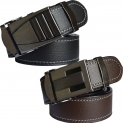 Sunshopping men's black and brown belt combo