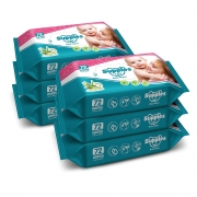 Supples Baby Wet 72 Wipes/Pack, (Pack of 6 )