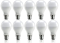 Syska SRL Base B22 9-Watt LED Bulb (Pack of 10)