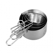 Taluka Stainless Steel Long Lasting Measuring Cup Set of 4
