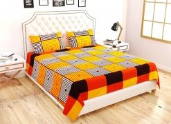 Virat Enterprises Double Bedsheet and 2 Pillow Covers