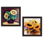 Wens 'Sunflower' Wall Hanging Painting