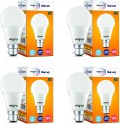 Wipro Garnet Base B22 10-Watt LED Bulb (Pack of 4)