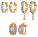 YouBella Jewellery Gold Plated and American Diamond Studs Earrings for Women